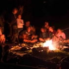 Feriencamp ROOTS Abend am Lagerfeuer