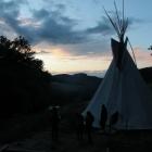 Feriencamp ROOTS Ausblick mit Abendstimmung