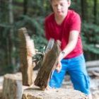 Feriencamp ROOTS Holz gehackt