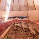 Feriencamp ROOTS Tipi von innen leer
